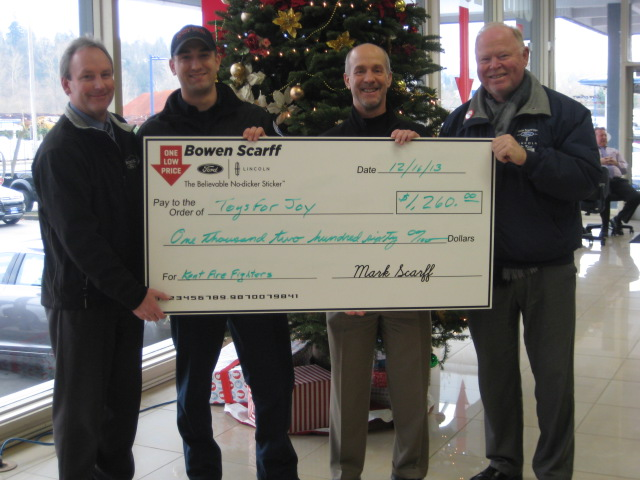 Bowen Scarff Donation to Toys for Joy in 2013